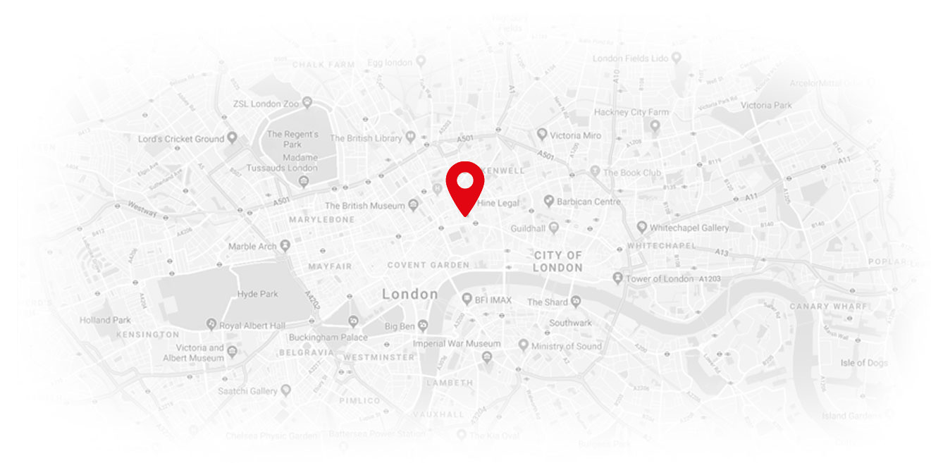 London map - Hine Legal Services